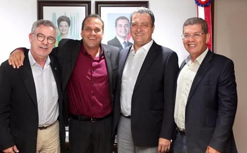Waldenor, prefeito Rebinha, Rui Costa e Zé Raimundo